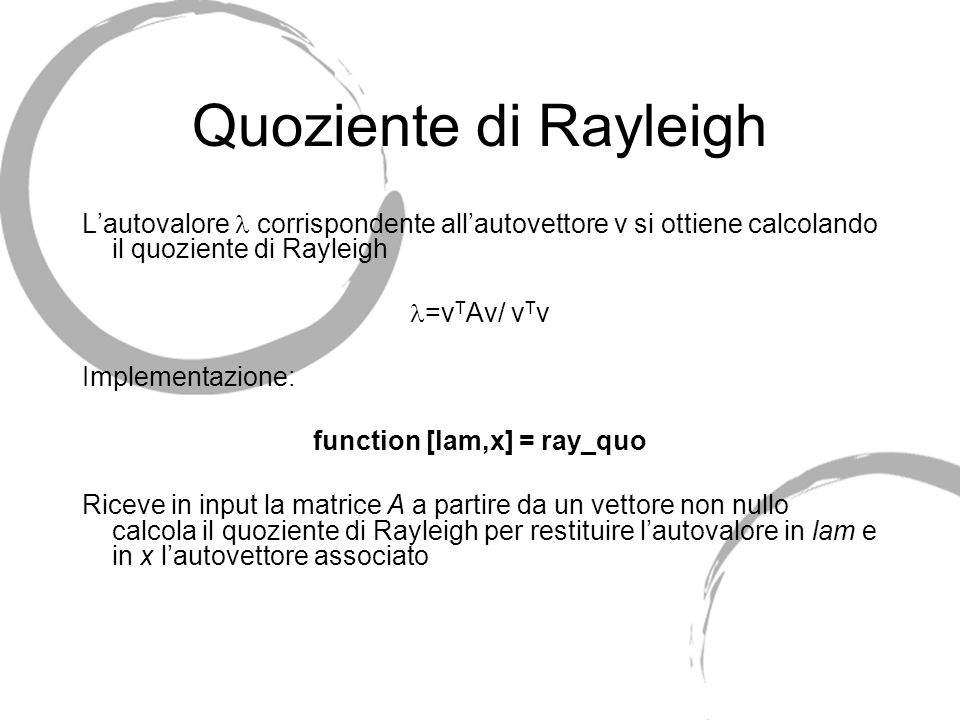 function [lam,x] = ray_quo